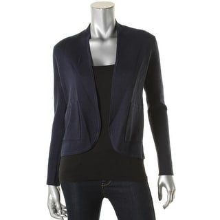 Eileen Fisher Womens Petites Jacket Open Front Manderin Collar