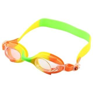 Children Silicone Belt Clear Vision Anti Fog Swim Goggles Orange Yellow Green