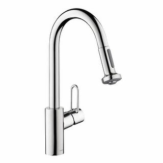 Hansgrohe 04702 Talis Loop Single Handle Pull-Down Spray Kitchen Faucet with Non