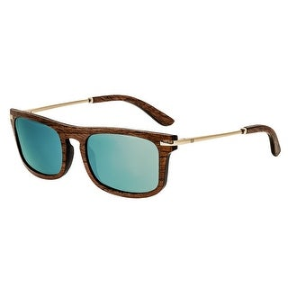 Earth Wood Queensland Unisex Wood Sunglasses - 100% UVA/UVB Prorection - Polarized Lens - Multi