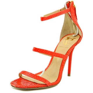 Vince Camuto Bayron Women Open Toe Leather Red Sandals
