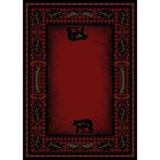 Link to American Destination Woodlands Plaid Lodge Area Rug Similar Items in Rugs