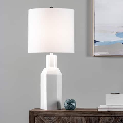 "nuLOOM Barkley 34"" Ceramic Table Lamp - 15""W x 15""D x 33.5""H"