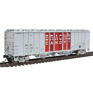 HO Scale - Walthers 50' 2-Bay Airslide Covered Hopper Brach's Candy GACX #47486 - gray