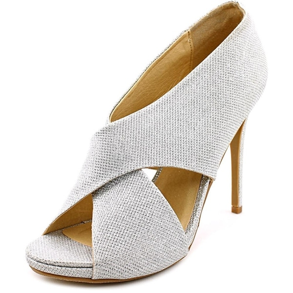 Chinese Laundry Bright Sun Women Open-Toe Synthetic Silver Heels