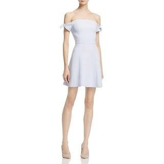 French Connection Womens Special Occasion Dress Crepe Off-The-Shoulder