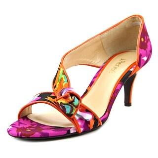 J. Renee Jaynni Open Toe Canvas Sandals