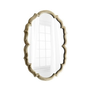 Cyan Design Banning Mirror 39.75 x 29 Banning Oval Iron and Wood Mirror - Silver