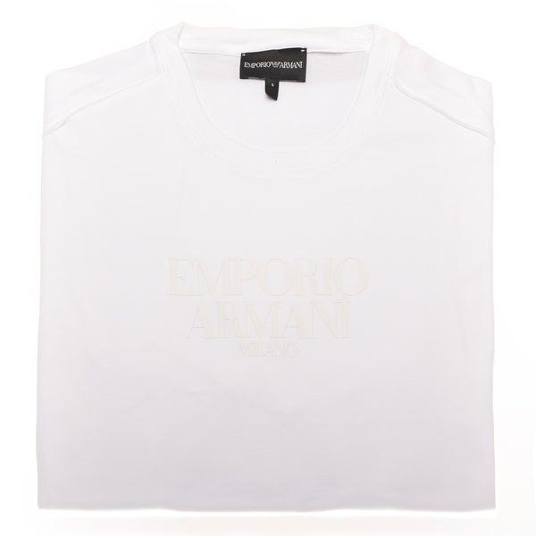 Emporio Armani Text Logo T-Shirt White