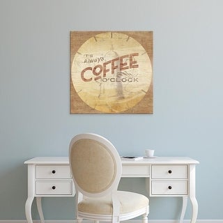 Easy Art Prints June Erica Vess's 'Beverage O'Clock I' Premium Canvas Art