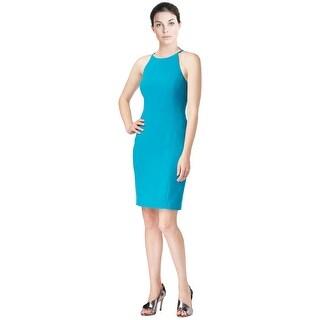 Calvin Klein Racerback Halter Sheath Cocktail Dress - 8