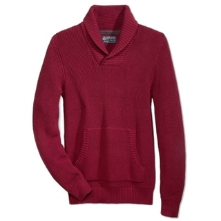American Rag NEW Red Mens Size Large L Shawl-Collar Pullover Sweater