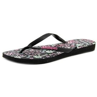 Havaianas Slim Women  Open Toe Synthetic Black Flip Flop Sandal