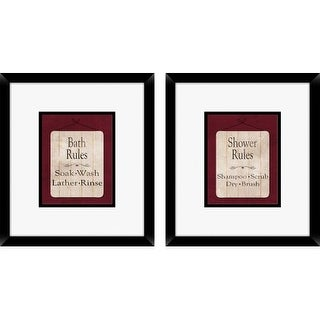 PTM Images 1-16214 Bathroom Rules Wall Art (Set of 2)
