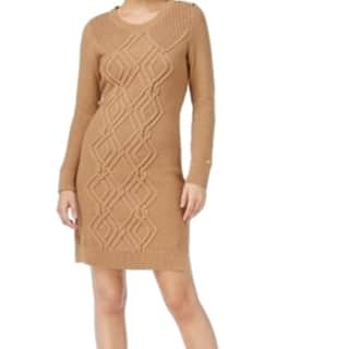 Tommy Hilfiger NEW Khaki Blue Womens Large L Cable Knit Sweater Dress|https://ak1.ostkcdn.com/images/products/is/images/direct/3ab27c8189a64f5d7a68207273c3ac2c19f23924/Tommy-Hilfiger-NEW-Khaki-Blue-Womens-Large-L-Cable-Knit-Sweater-Dress.jpg?impolicy=medium