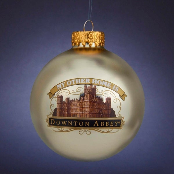 "3.25"" Gold Downton Abbey Highclere Castle Christmas Ball Ornament"