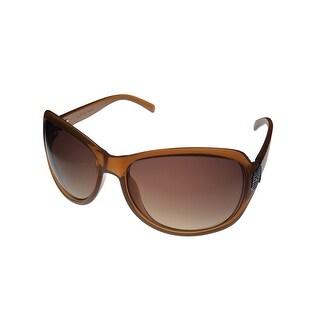 Jill Stuart Womens Sunglass 1022 2 Caramel Plastic Rectangle, Gradient Lens - Medium