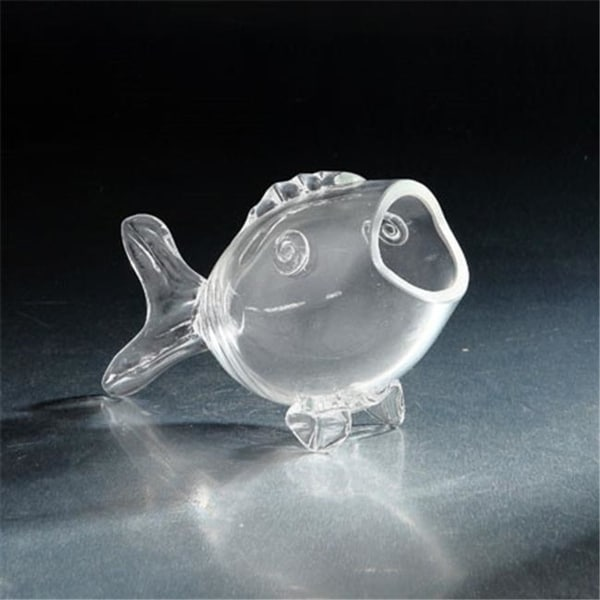 Diamond Star 73003 8.5 x 4 x 5 in. Glass Fish Clear
