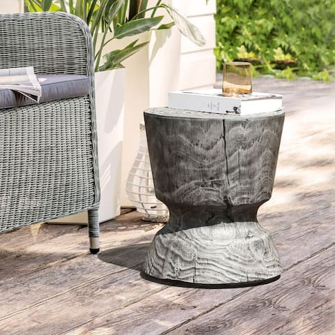 Outdoor Side Table Concrete End Table