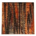 Lillypilly Copper Sheet Metal Bamboo Embossed Enchantment Patina 36 Gauge - 3x3 - Thumbnail 0