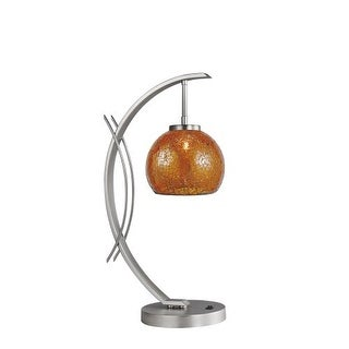Woodbridge Lighting 13481STN-M00AMB 1 Light Table Lamp from the Eclipse Collecti
