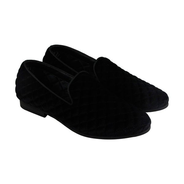 Steve Madden Cubic Mens Black Textile Casual Dress Slip On Loafers Shoes