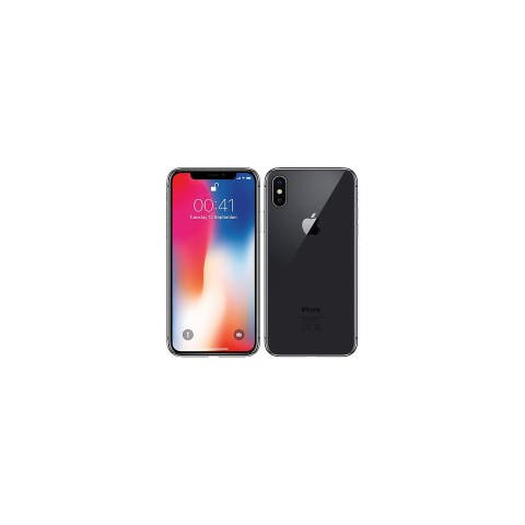 Apple iPhone X Space Gray Cricket Locked Ceritifed Refurbished Phone - 64 GB