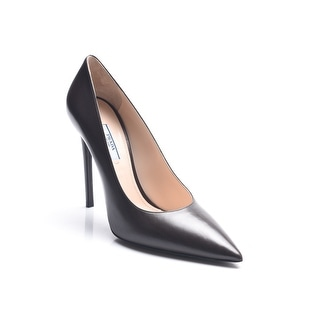 Prada Women's Vitello Pointed Toe Pumps Brown
