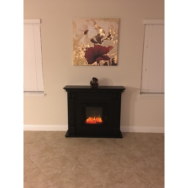 Ashley Blackwash Electric Fireplace By Real Flame Free Shipping Today 6518690