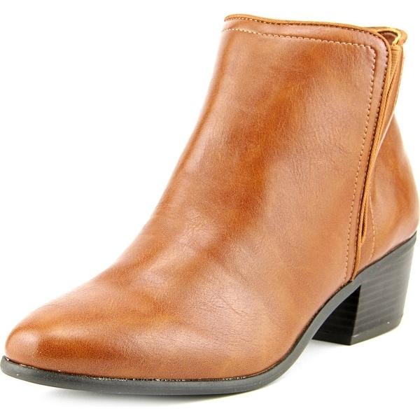 Karen Scott Fannia Women  Round Toe Synthetic Brown Ankle Boot