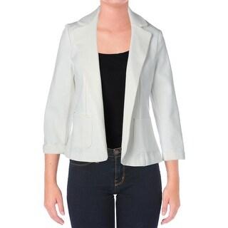 Aqua Womens Solid Long Sleeves Blazer