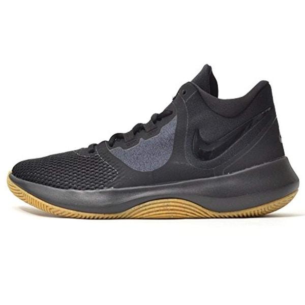 a0b6d8010a0 Shop Nike Mens Air Precision 2 Black Black Gum Light Brown - Free Shipping  Today - Overstock - 27121231