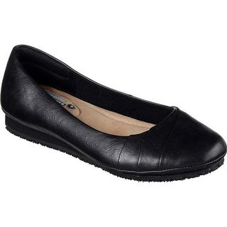 Skechers Women's Work Kincaid Callao Slip Resistant Work Flat Black