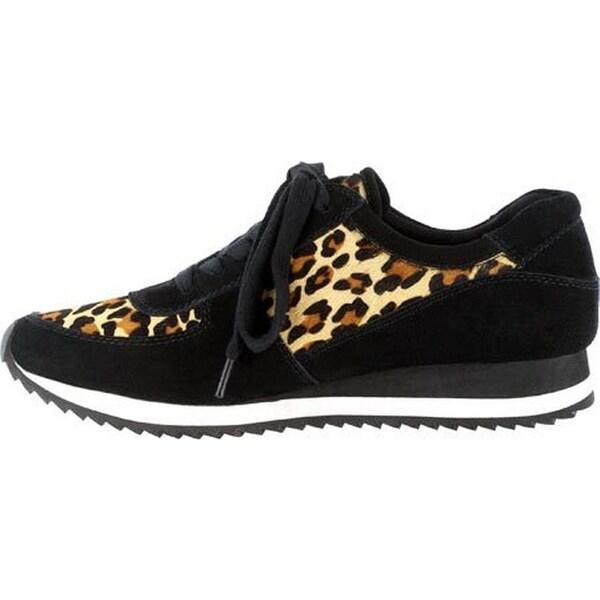 Bella Vita Womens Emile Fashion Sneakers Calf Hair Leopard Print