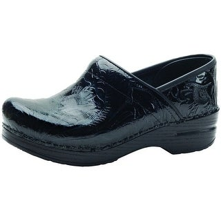 Dansko Shoes Womens Clogs Professional Leather Tooled Black