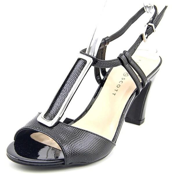 Karen Scott Lorahh Open-Toe Patent Leather Slingback Heel