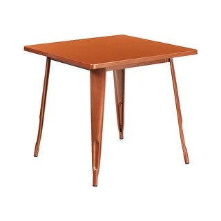 Offex 31.5'' Square Copper Metal Indoor-Outdoor Table