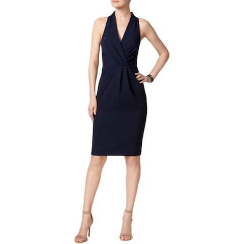 Betsey Johnson Womens Cocktail Dress Halter Sheath