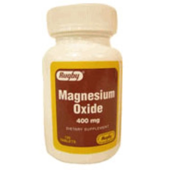 Rugby Magnesium Oxide 400mg tablets 120 ea