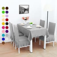 4Pcs Stretch Dining Room Chair Covers Seat Protector
