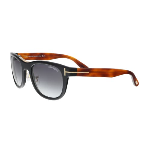 fd08a883e68 Tom Ford FT0045 S 05B JACK Amber Black Square Sunglasses - 51-20