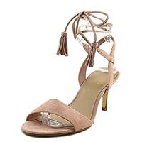 424 Fifth Womens Giovanna Slingback Heels Lace-Up Open Toe