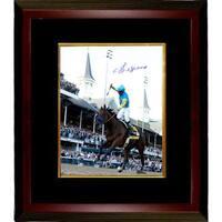 Victor Espinoza signed 16x20 Photo 2015 Kentucky Derby Horse Racing Triple Crown Custom Framed ridi