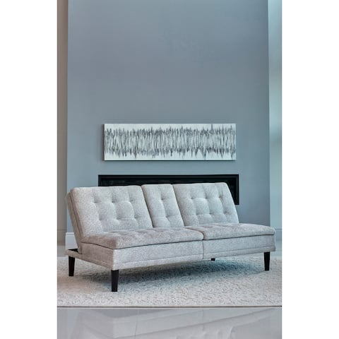 Loria Tufted Back Sofa Bed with Drop-down Console