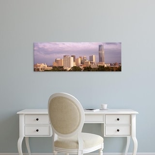 Easy Art Prints Panoramic Images's 'Downtown skyline, Oklahoma City, Oklahoma, USA' Premium Canvas Art