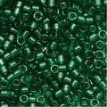Miyuki Delica Seed Beads 11/0 Transparent Green DB713 7.2 GR - Thumbnail 0