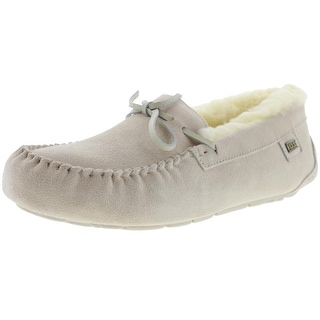 Australia Luxe Womens Prost Suede Sheepskin Lined Moccasin Slippers