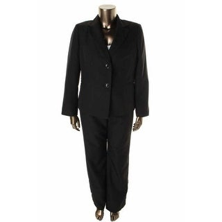 Evan Picone Womens City Chic Pinstripe Long Sleeves Pant Suit - 4