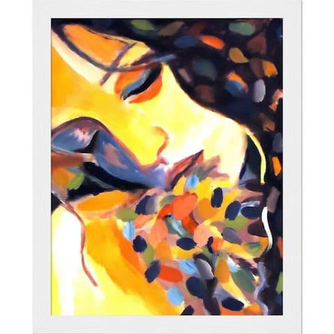 "ArtistBe Delight with Studio White Wood Frame, 9.5"" x 11.5"""