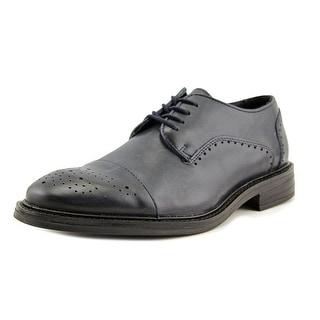 Alfani Paul Men  Cap Toe Leather Blue Oxford